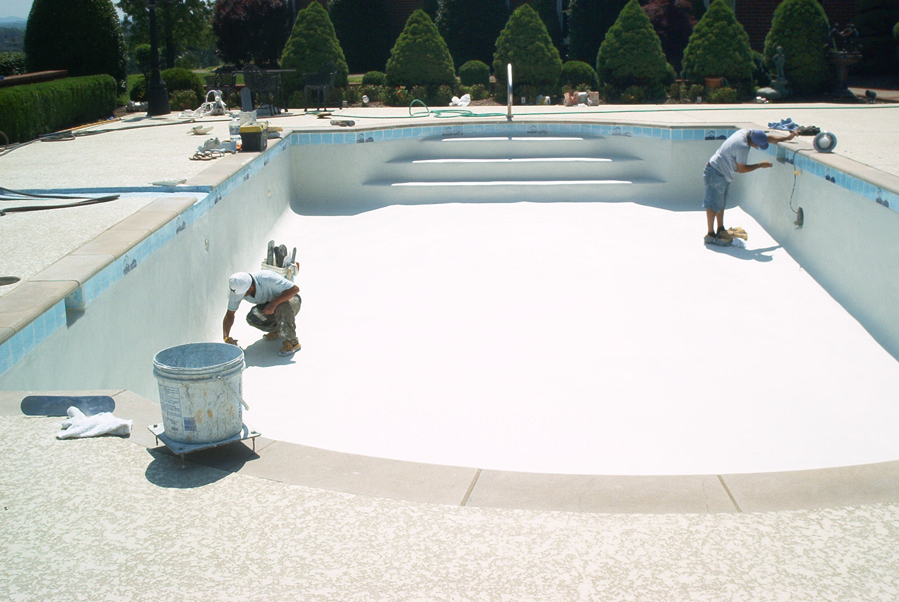Pool remodel surfaces the pool pros orange county newport beach pool service contractor - Witte pool liner ...